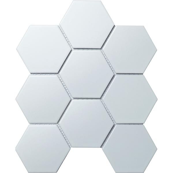Мозаика Кер. мозаика Hexagon big White Matt (FQ31000/SBH1005) 256х295х6